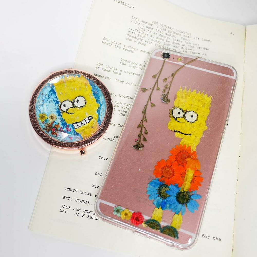 [訂製/custom-made] Bart Pressed Flower Phone Case