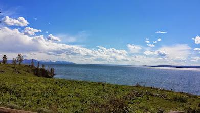 Photo: Panoramic view across Lake Yellowstone