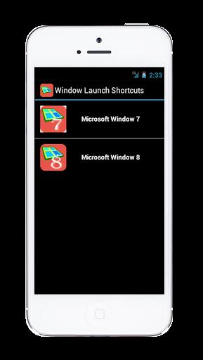 Window Launch Keys