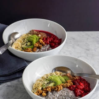 Winter Chia Pudding Breakfast Bowl | Vegan.