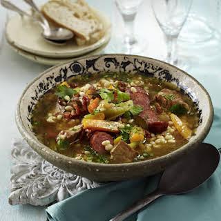 Mediterranean Pork and Bean Stew.