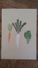 Photo: 二つ折りカード6 (vegetable)〈表〉