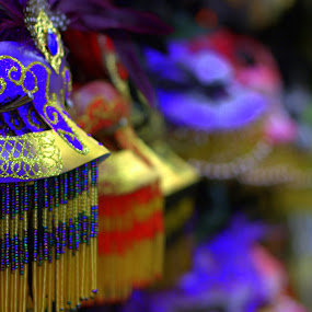 A Taste of Mardi Gras by Jason Arand - Artistic Objects Other Objects ( blue, colorful, colors, mask, party, mardi gras )