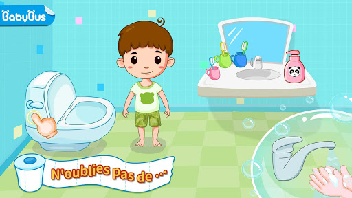 Aux toilettes - Propreté bébé fond d'écran 1