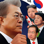 Korean political fighting Icon