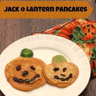 Jack O Lantern Pancakes + Granola Pumpkin Pancakes