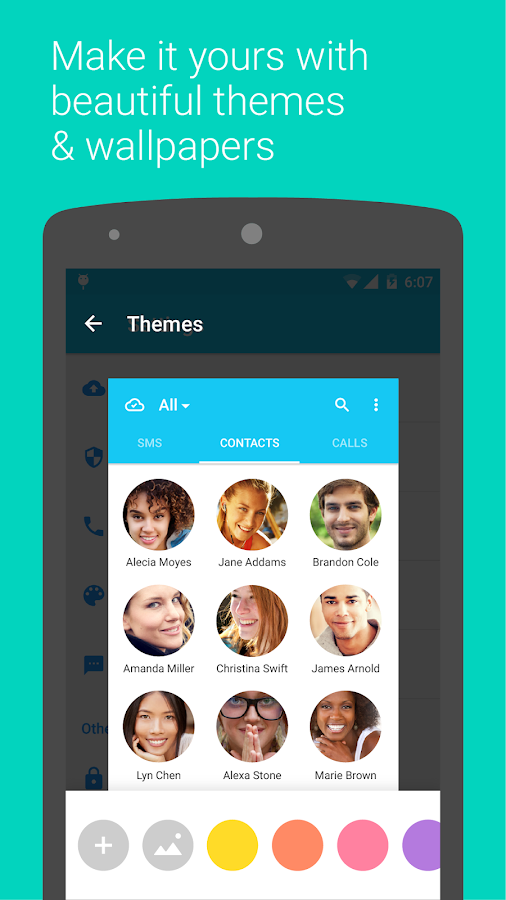 Contacts+ – screenshot
