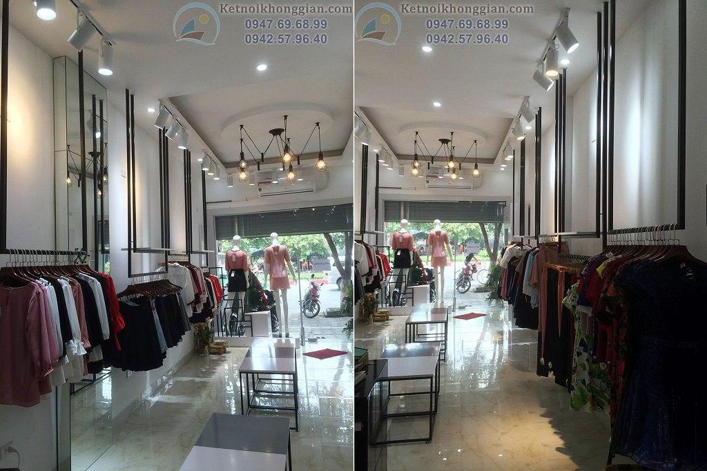 thi công shop thời trang đẹp - thiết kế cửa hàng thời trang công sở