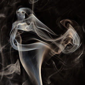 I Am Still Living With Your Ghost by Vickie Barnhill - Artistic Objects Other Objects ( smoke ghosts )