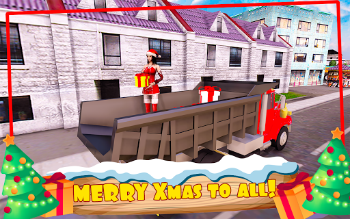 Foto do Santa Claus Christmas Gift Delivery Truck Game