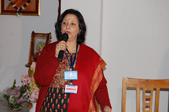 Photo: Mrs Surabhi Ranjan Addressing the Press