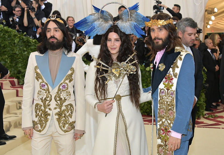 Alessandro Michele, Lana Del Rey, and Jared Leto attend the Met Gala on May 7 2018 in New York City.