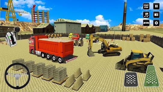 مدينة اعمال بناء محاكاة رافعة شوكية شاحنة نقل لعبه 4