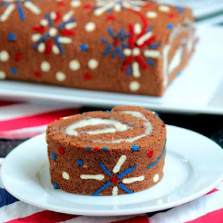 4th of July Fireworks Chocolate Roll Cake