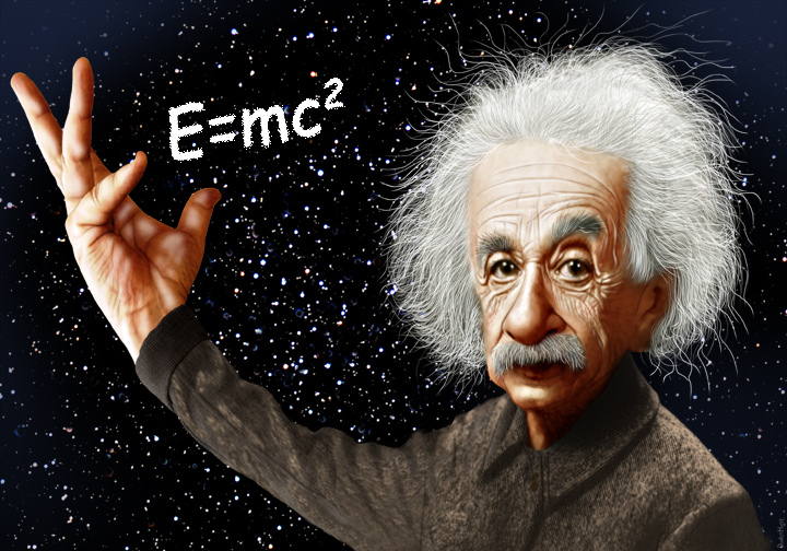Albert Einstein - Caricature | Albert Einstein was a theoret… | Flickr