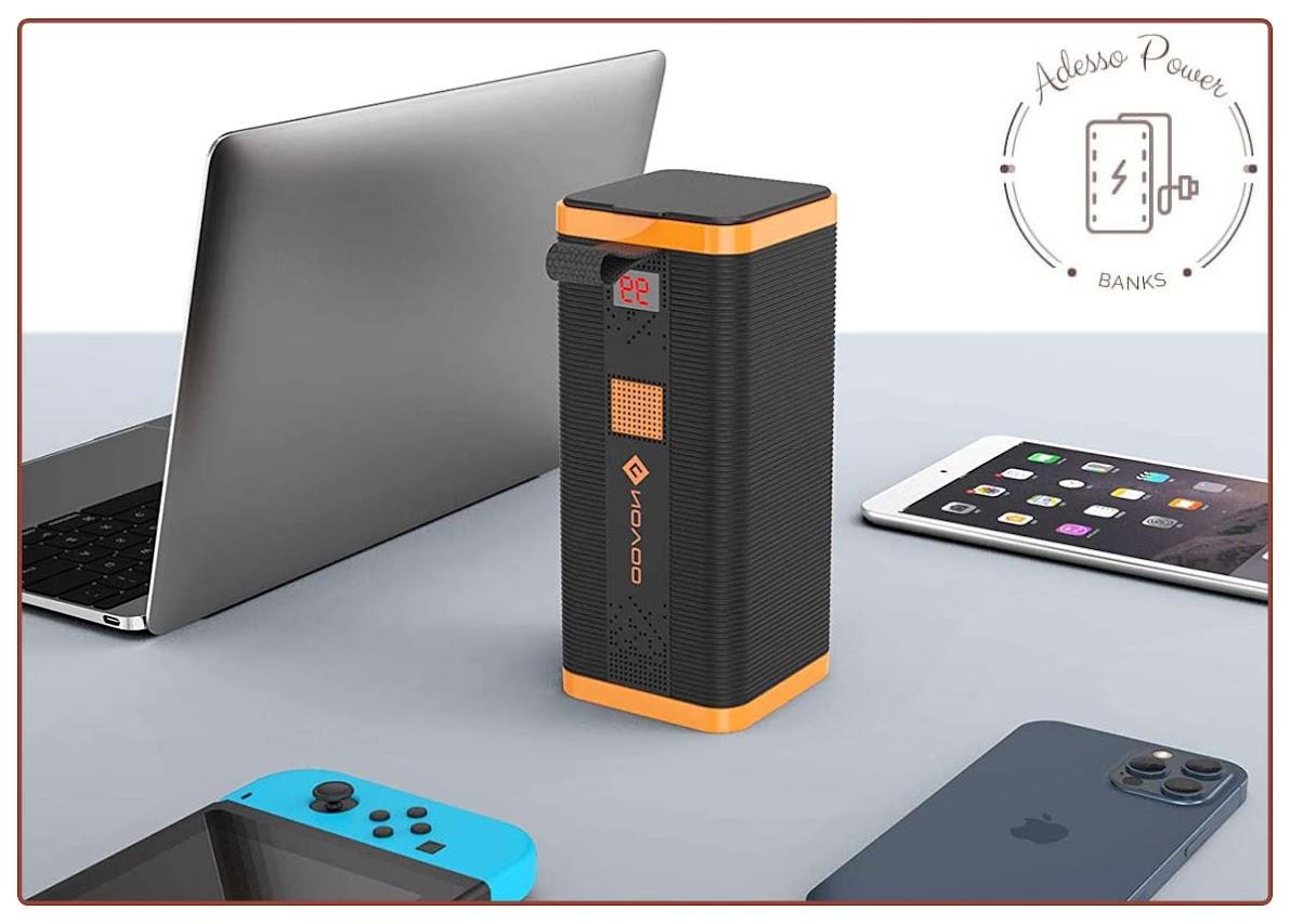 Portable Laptop Charger NOVOO 22500mAh 85W 110V Power Bank