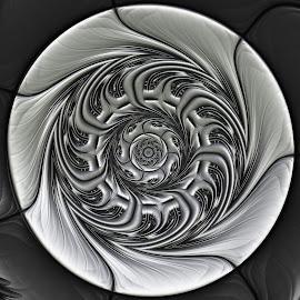 Silver amulet by Cassy 67 - Illustration Abstract & Patterns ( metal, digital art, fractal art, metallic, fractal, digital )