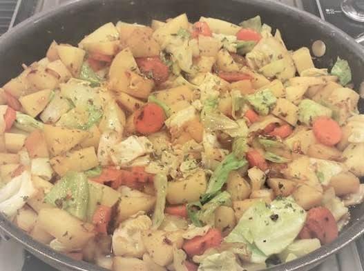 Spicy Cabbage, Carrot & Potato Recipe