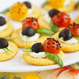 Caprese Ladybugs RITZ Crackers.
