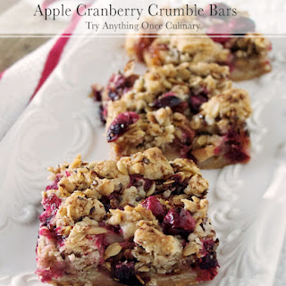 Apple Cranberry Crumble Bars.
