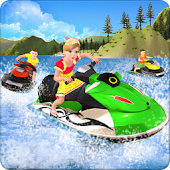 Kids Power Boat Racing : Impossible Tracks