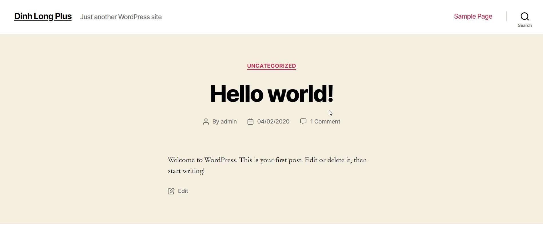 Giao dien (theme) WordPress mac đinh