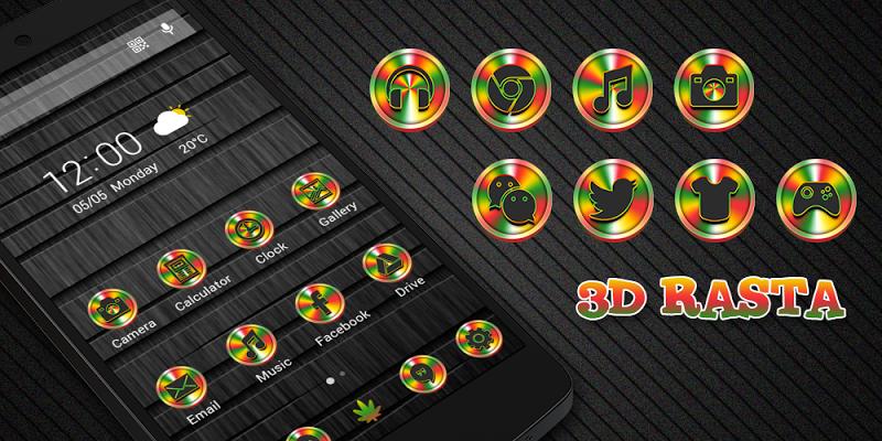 3D Rasta - Solo Theme - screenshot
