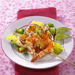 Spicy Prawn and Avocado Salad.