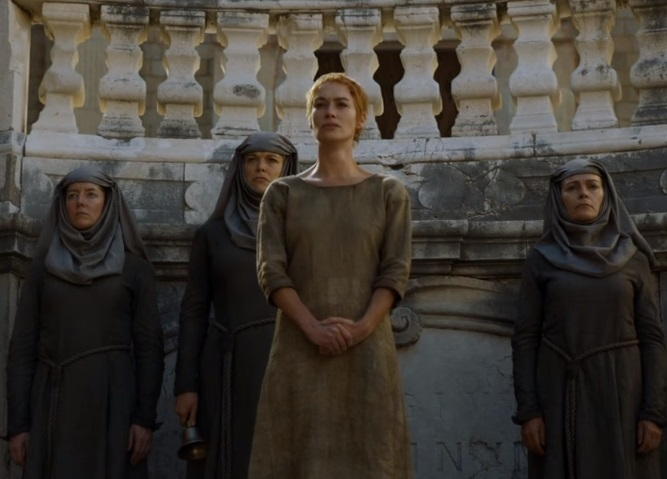 A screen grab of Lena Headey as Cersei Lannister in a scene from 'Game of Thrones'.