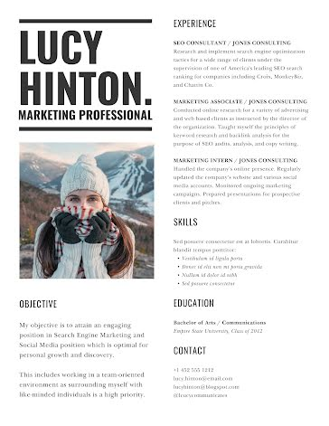 Lucy F. Hinton - Resume Template