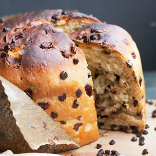 Chocolate Chip Cranberry Panettone.