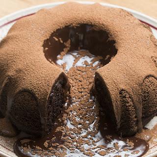 Giant Molten Chocolate Cake.