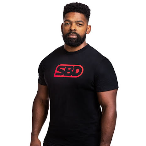 SBD Brand T-Shirt - Mens, Black/Red