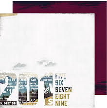 Heidi Swapp Hawthorne Double-Sided Cardstock 12X12 - Middle Of Nowhere UTGÅENDE