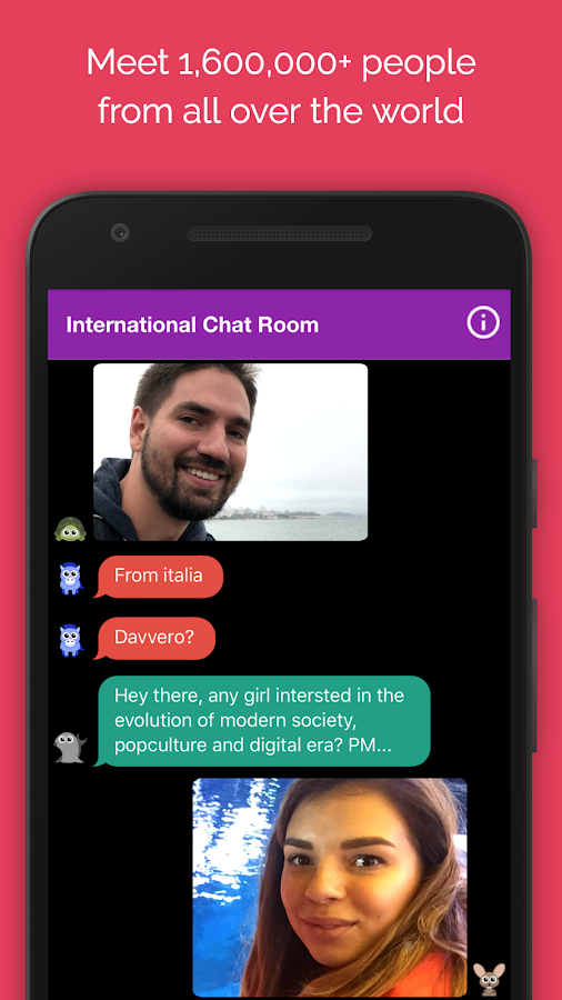 Anonymous Chat Rooms for meeting new people – Anti- screenshot