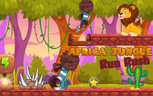 Africa jungle: run rush