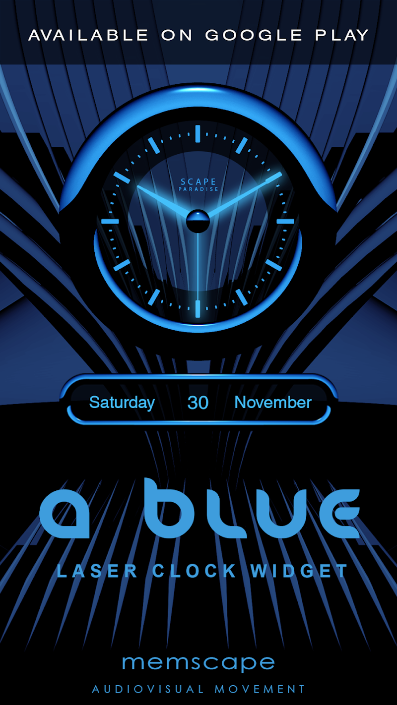 A-BLUE Smart Launcher Theme Screenshot 4