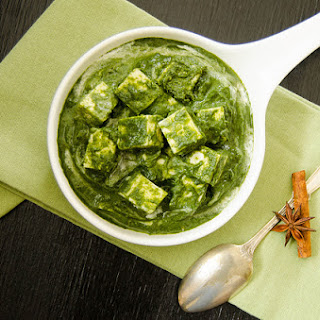 Indian Classics - Palak Paneer With Cookin' Greens Flash Frozen Spinach (Paneer in a Spicy, Creamy Spinach Sauce)