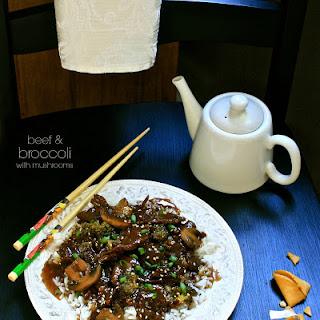 Beef & Broccoli with Mushrooms (Crock Pot).