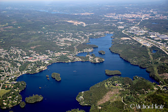 Photo: Viaredssjöen med Borås i midten øverst
