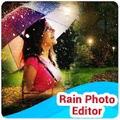 Rain photo editor-Background & Stickers