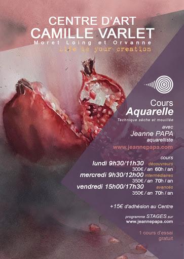 jeanne PAPA_cours aquarelles 2021_2022_ FONTAINEBLEAU / SEINE ET MARNE/ VENEUX LES SABLONS / MORET SUR LOING/ THOMERY