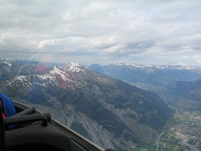 Photo: Blick auf den Berg der Wölfe, den Calanda.