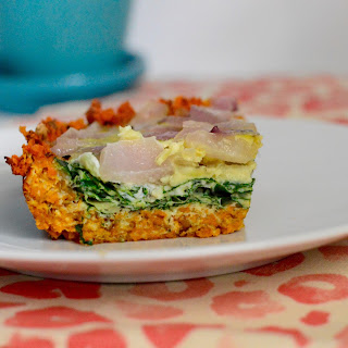 SuperFood Sweet Potato Crusted Quiche.
