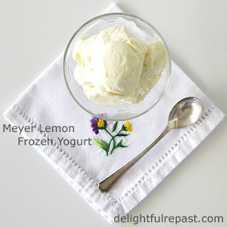 Meyer Lemon Frozen Yogurt