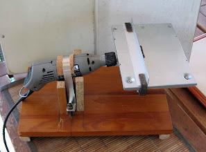 Photo: très simple  je peux tailler des  baguettes de 3X3 prises dans du cp de 3mm