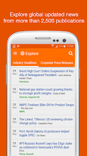 Personalized Oil & Gas News- screenshot thumbnail