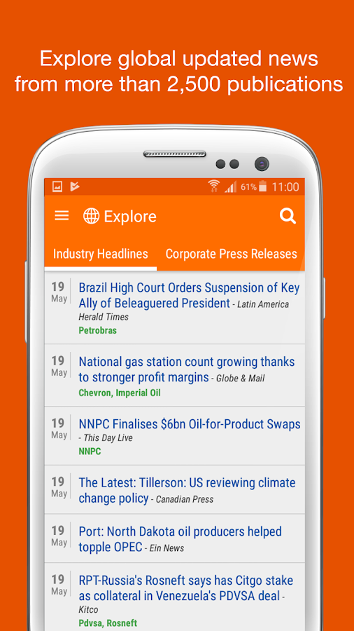 Personalized Oil & Gas News- screenshot