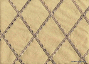 Photo: Embroidered Silk Taffeta ~ Feena - Wheat