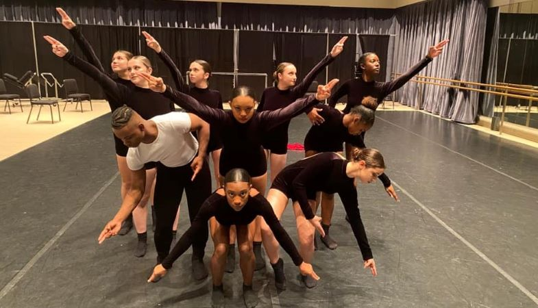 Student dancers from a Tampa magnet school for the arts